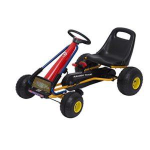 Homcom-Kids-Ride-Pedal-Go-kart-Gokart-Go-Kart-Pedal-Outdoor-Toy-Racing-Fun-Kart-Adjustable-Seats-with-Hand-Brake-Red-966856cm-0