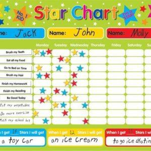 Magnetic-RewardStar-Chart-suitable-for-upto-3-children-Rigid-board-40-x-30cm-with-hanging-loop-0