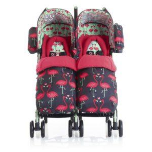 Cosatto Supa Dupa Twin Stroller in Flamingo Fling Reviews